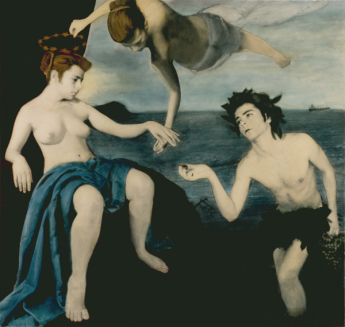 Ariadne Bacchus and Venus, 1988 gelatin-silver print, hand colored
