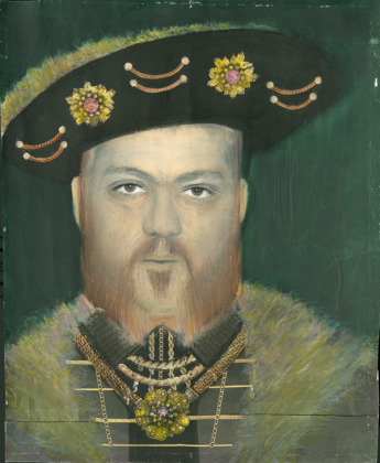 Henry VIII, 1984 gelatin-silver print, collage, hand colored