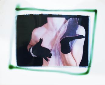 Scratch-n-sniff Gloves, 1981 c-print