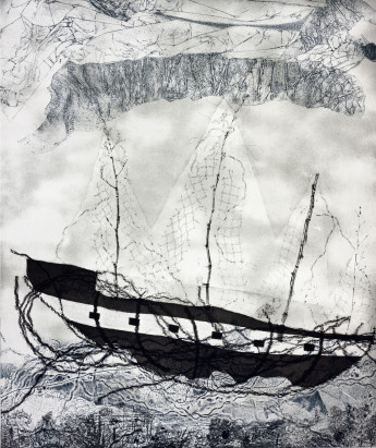 Our Journey (2013) Softground, aquatint and drypoint.