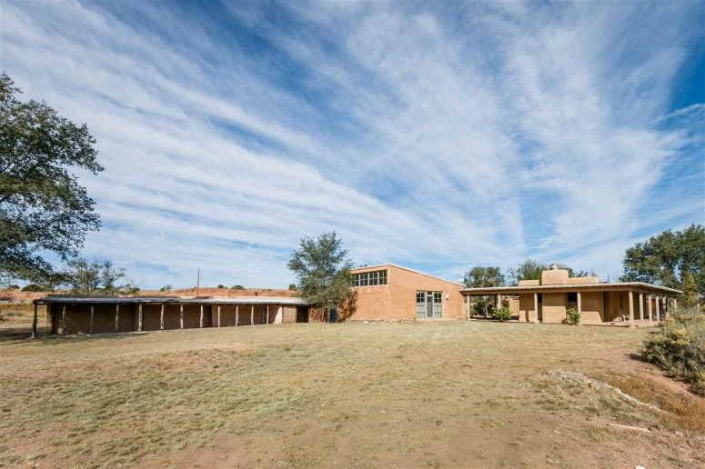 Agnes Martin's house in Galisteo in its current state. (Photo courtesy Santa Fe Properties)