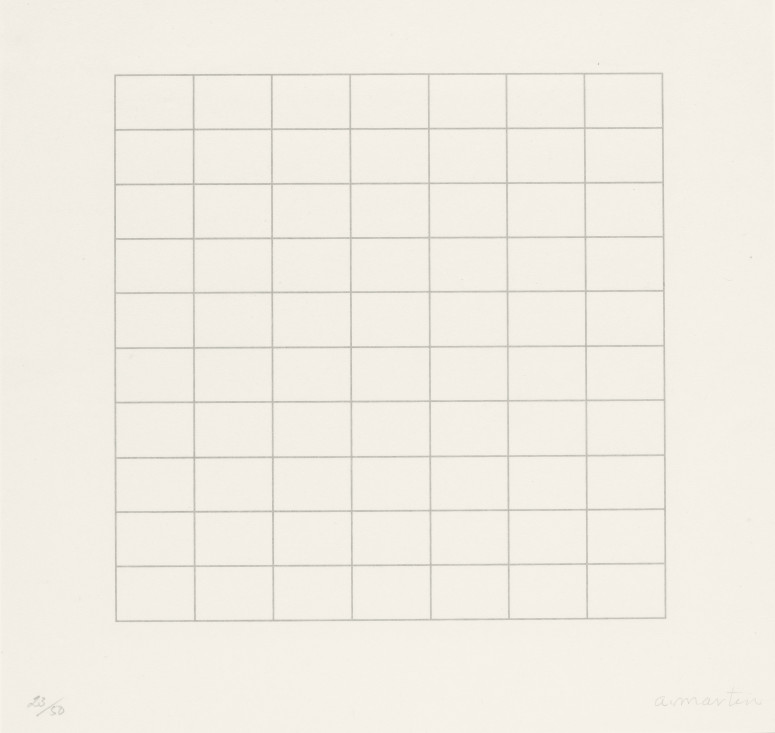 On a Clear Day 1973. Parasol Press, Ltd. © 2015 Agnes Martin / Artists Rights Society (ARS), New York
