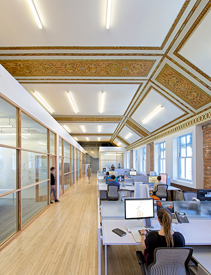 Interiors: PacBell Building