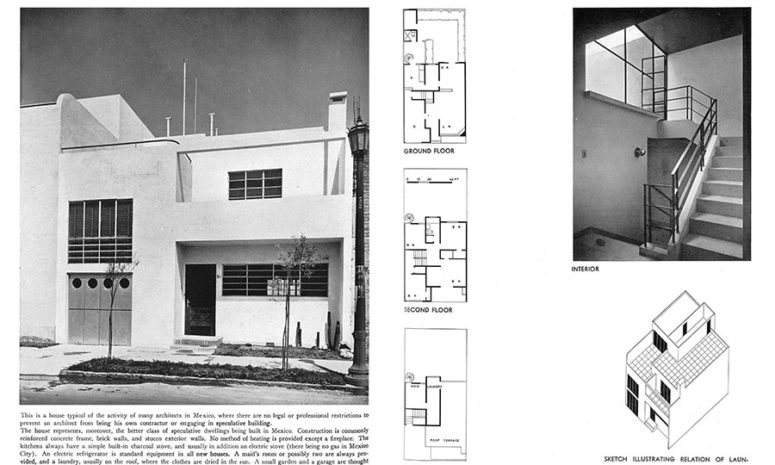 In the April 1937 RECORD, they also presented coverage of new Mexican architecture.